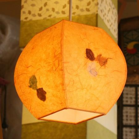 특가 [한지등] 단지팬던트[연주황민속무늬]-대각선 사이즈